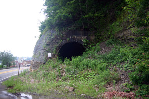 The tunnel's northern entrance/exit as seen today.